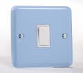 Varilight Pastel 1 Gang 2 Way Rocker Light Switch Blue Pastel XY1W.DB